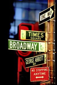 Broadway Street Signs