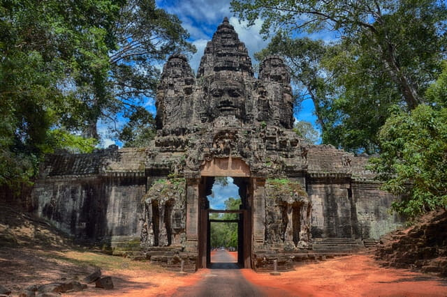 angkor wat buddhist temple in cambodia