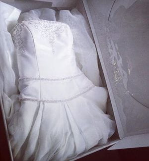 how to travel with a wedding dress