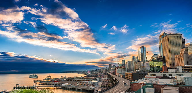 image  of Seattle shoreline